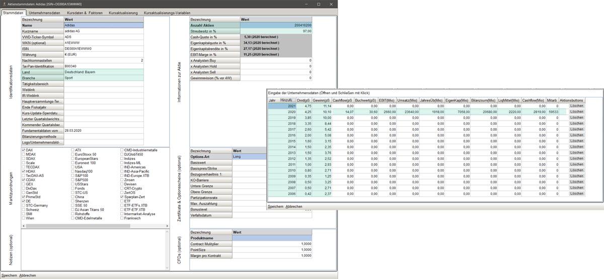 SHAREholder Fundamentaldaten Boerse Online
